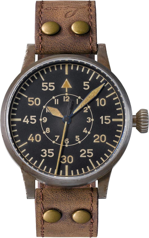 Laco Paderborn erbstück Reloj para Hombre Analógico de Automático con Brazalete de Piel de Vaca 861932