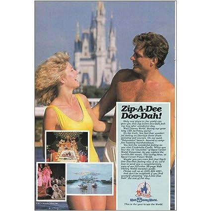 Amazon com: RelicPaper 1987 Walt Disney World: Zip A Dee Doo Dah