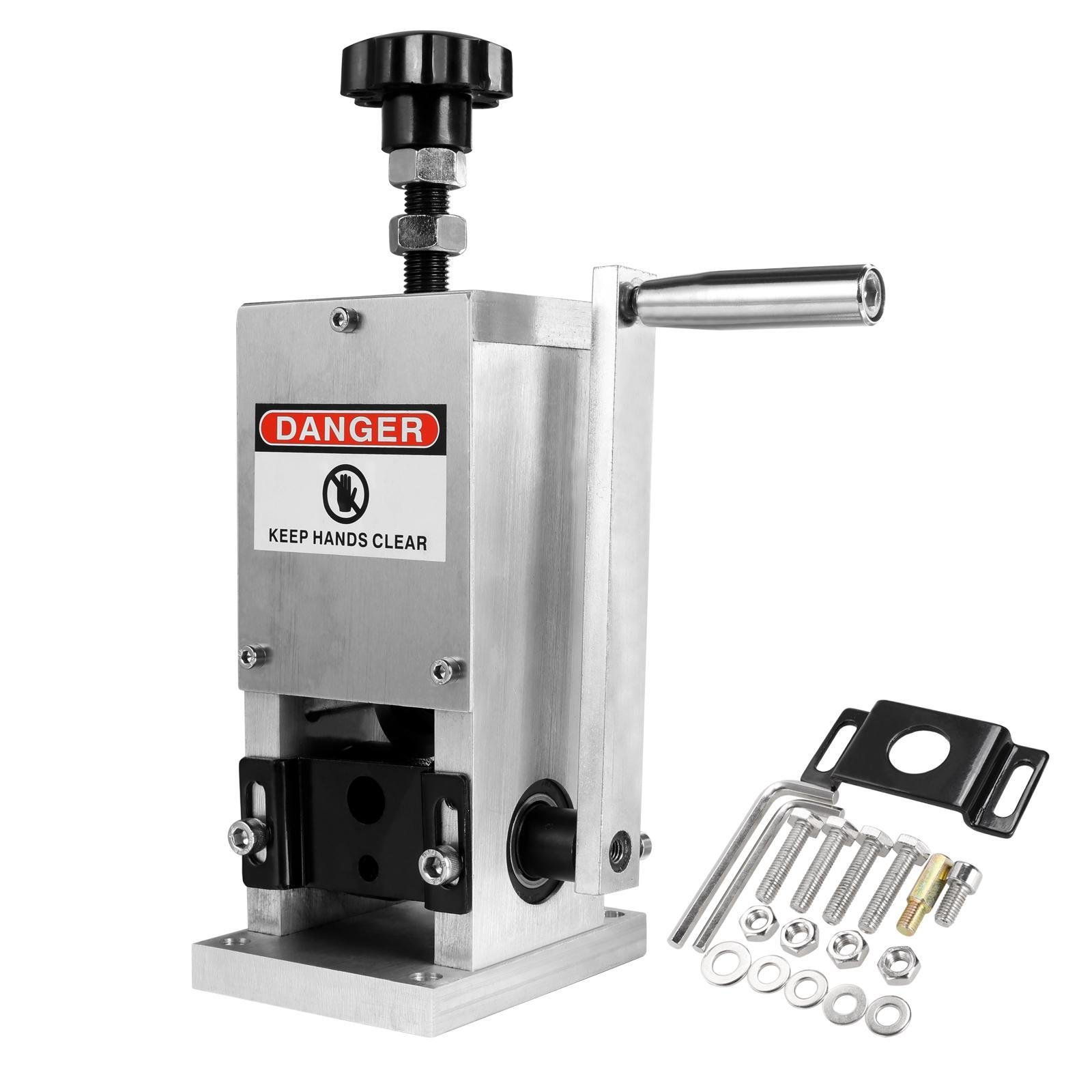Hindom Adjustable Copper Wire Stripper/Wire Stripping Machine Manual Crank & Drill Operated Cable Stripper, US STOCK