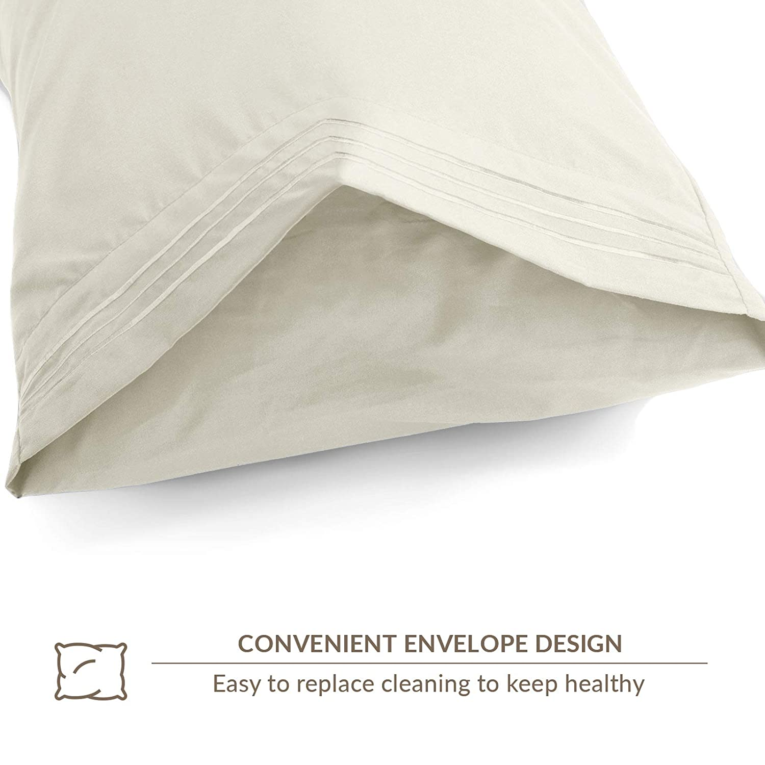 Fade VEEYOO Pillowcase Standard//Queen Size 2 Pack Hotel Luxury Pillow Case Extra Soft 1800 Double Brushed Microfiber Pillowcase Wrinkle Moss Green Stain Resistant 20x 30