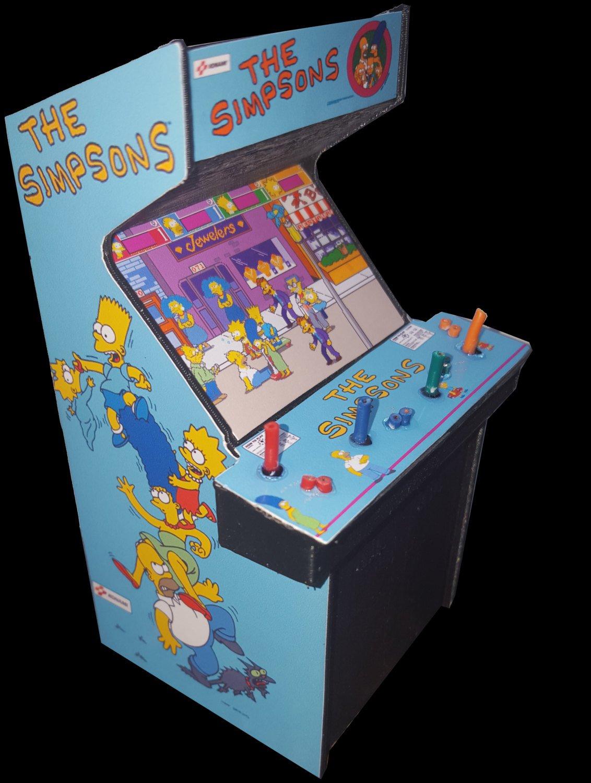 Amazon.com : The Simpsons 4 Player Mini Arcade Cabinet Collectible ...