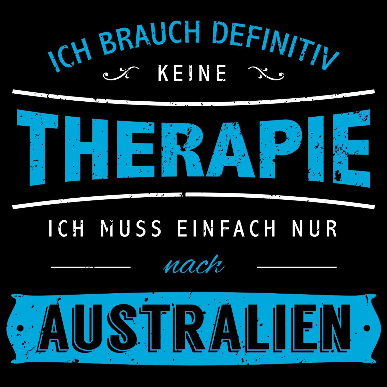 Fashionalarm Damen T-Shirt - Ich brauch keine Therapie - Australien | Fun  Shirt Spruch Urlaub Down Under Sydney Brisbane Perth Surfen Tauchen:  Amazon.de: ...