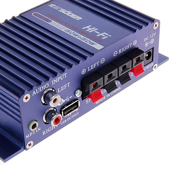 Amazon.com: Estéreo SON-8251A 150W caja del coche de Auto Audio Amplifie: Musical Instruments