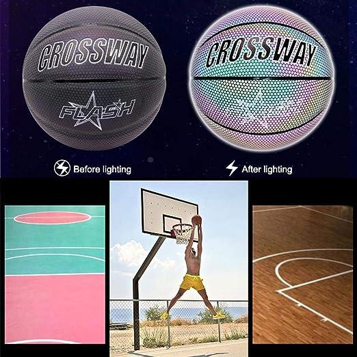 Balón de baloncesto único con reflejos brillantes, suave ...