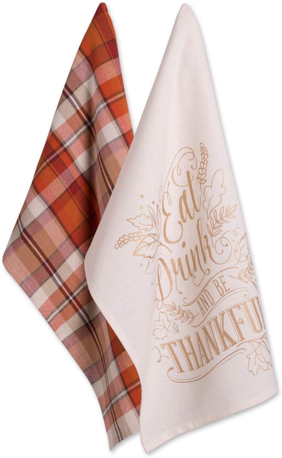 Fall Kitchen Dish Towels 8 Pack Tea 16 x 28 Thanksgiving Halloween Turkey
