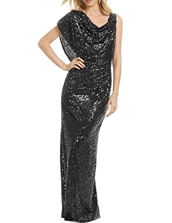 0bbd2702bfc7 YSMei Women s Long Mermaid Sequined Evening Party Dress Formal Prom Gowns  Black 2