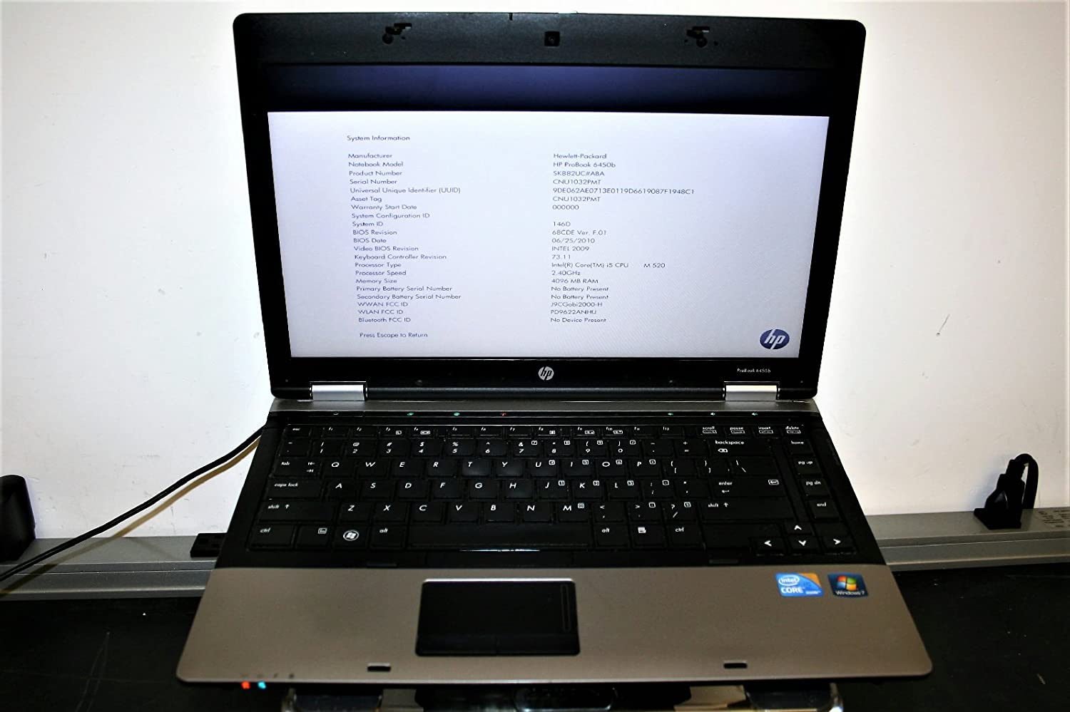 Notebook 14.1 HP ProBook 6450b i5 M 520 2.40 GHz Professional: Amazon.es: Informática