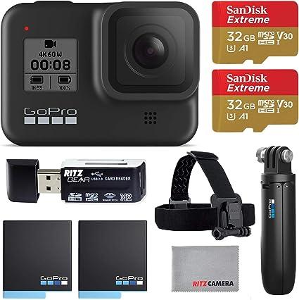 Amazon.com: GoPro Hero8 Cámara de acción negra con paquete ...