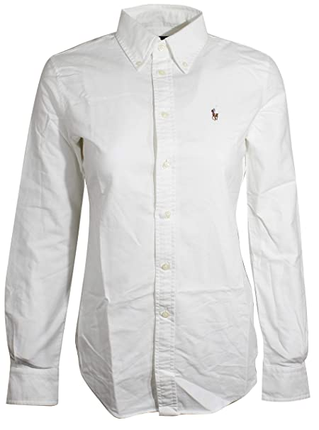 6dda3d1e9d Polo Ralph Lauren Women's Slim Fit Long Sleeve Shirt Buttondown ...