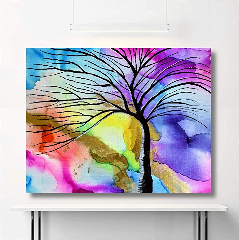 Unique wall art Home art Alcohol ink painting in A3 size Original abstract painting