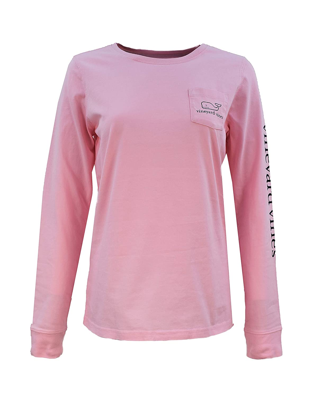 Vineyard Vines Christmas 2019.Vineyard Vines Women S Long Sleeve Pocket Signature Graphic T Shirt