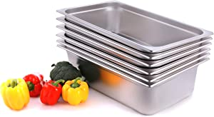 CMI Full Size Stainless Steel Food Pans Gastronorm Containers,2.5