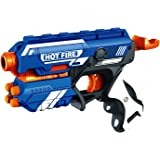 Higadget Spincart Blaze Storm Foam Bullet Blaster Manual Toy Gun Includes 10 Bullets (Multicolour)
