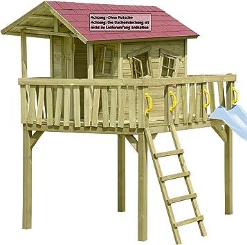Gartenpirat Maxi-Fun - Casa de juegos para niños de madera: Amazon.es: Juguetes y juegos