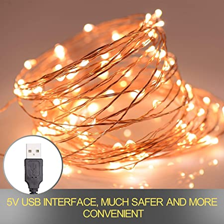 FAIRY LIGHTS STRING BATTERY POWERED USB WATERPROOF LED FIREFLY HOLIDAY STRIPE
