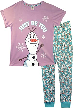 Pijama de mujer Frozen Olaf de Disney: Amazon.es: Ropa