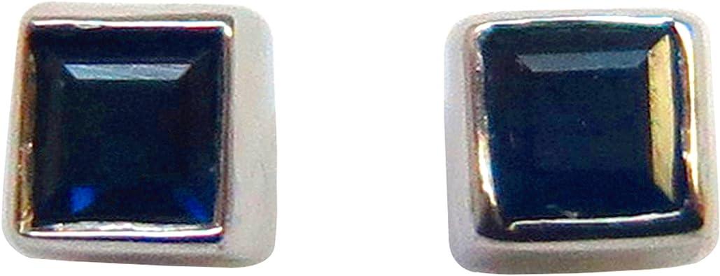 certificados 6 x 4 mm Pendientes de tuerca para hombre o mujer con zafiro ovalado de 0,75 quilates 100/% natural