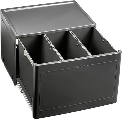 BLANCO Botton Pro 8/8 Manuell, Müllsystem für die Abfalltrennung in der  Küche, mit 8 Mülleimern (je 18 l), zur Boden-Montage im 8 cm-Unterschrank;