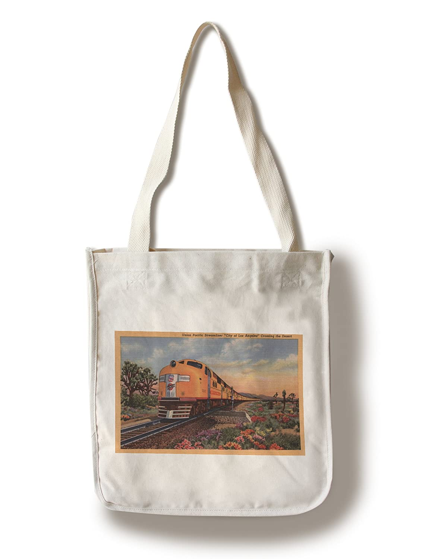 カリフォルニア – Union Pacific Railroad City of Los Angeles Train Canvas Tote Bag LANT-10858-TT B0182QS4NS  Canvas Tote Bag
