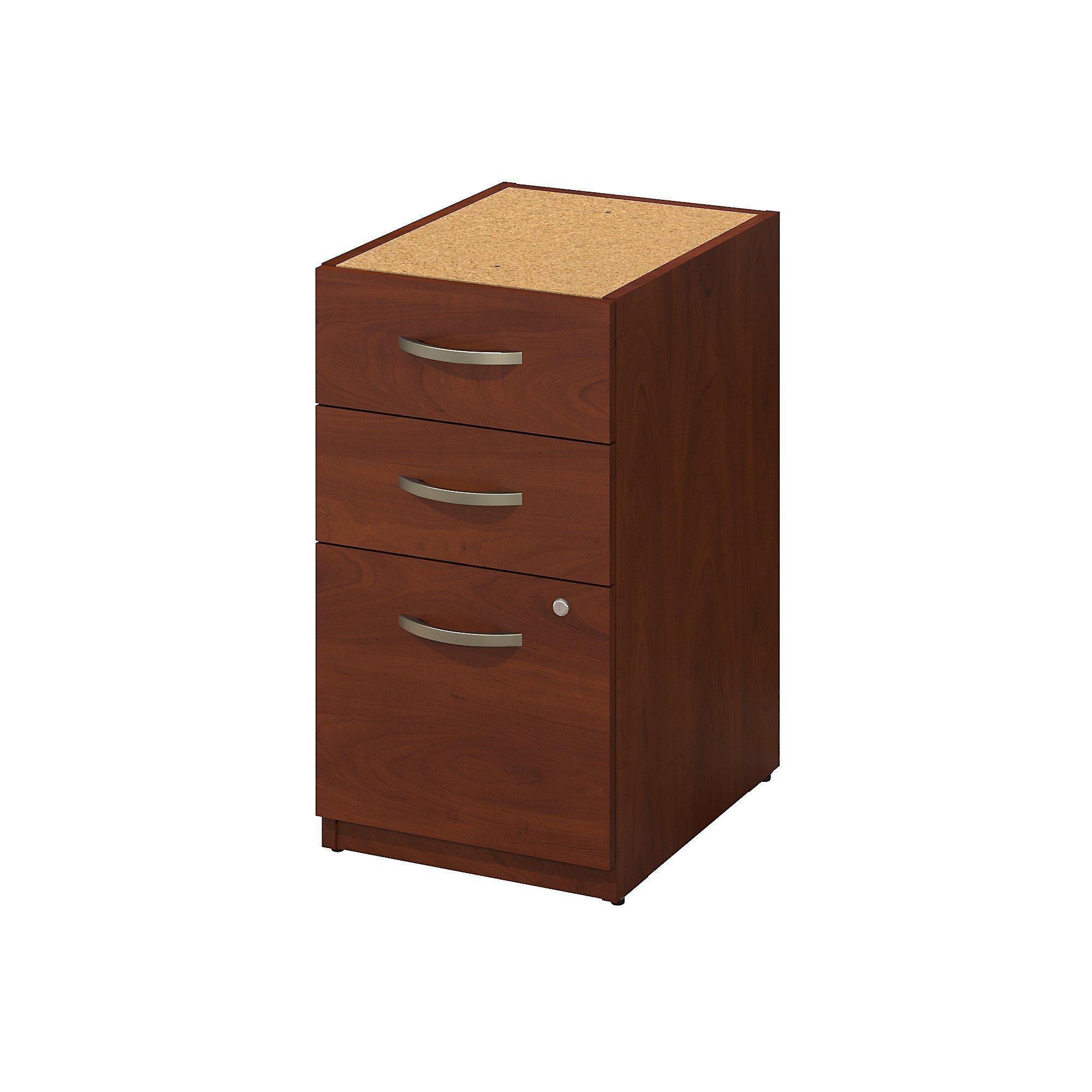Bush Business Furniture Series C Elite 16W 3 Drawer Pedestal in Hansen Cherry