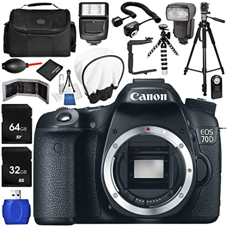 Amazoncom Canon EOS 70D DSLR Camera Body Only 17PC Accessory