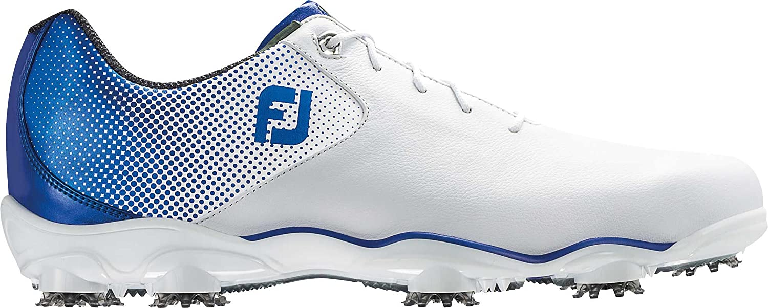 47064d70625212 Amazon.com | FootJoy New Mens Golf Shoe DNA Helix Medium 9 White/Blue | Golf