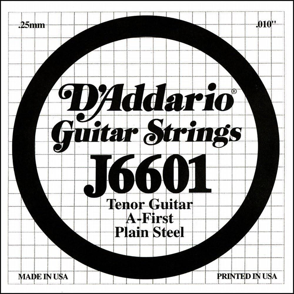 .010 DAddario J6601 Plain Steel Tenor Guitar Single String