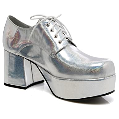 946d67a419e86 Amazon.com: Pimp Adult Costume Shoes Silver - Medium: Clothing