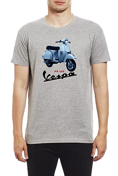 Northern Soul Vespa Scooter PX125. Camiseta para Hombre. Gris/Small