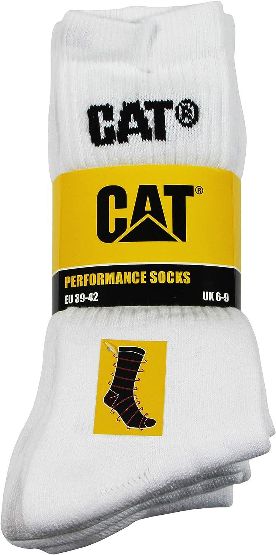 Caterpillar Performance Socks 5 Paia di calze da uomo soletta e collo del piede in spugna filati di eccellente qualit/à di cotone punta e tallone rinforzati
