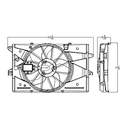 Amazon Com Cpp Radiator Cooling Fan Assembly For Ford Taurus