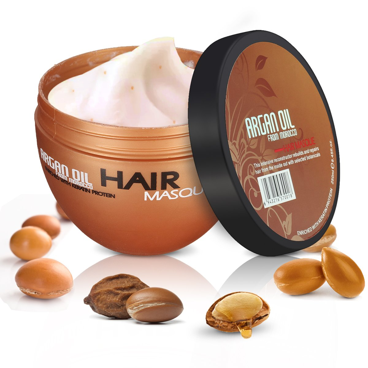 Argan Oil Hair Mask Conditioner for Intensive Hair Treatment with Argan Oil and Almond Oil Pack NICOOL