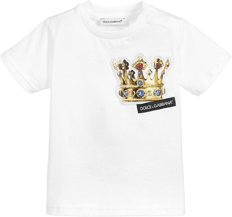 Dolce & Gabbana Kids Crown Camiseta Impresa 3/6 White: Amazon.es: Ropa y accesorios