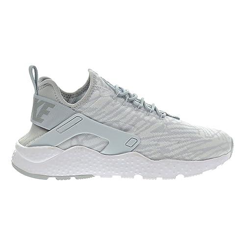 san francisco e06ec 1485d Nike Air Huarache Run Ultra KJCRD Mujer Zapatos BlancoMetálico PlataLobo  Gris 818061 - 100 Amazon.es Zapatos y complementos