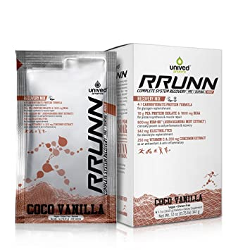 Unived RRUNN Post Workout Sports Recovery Drink Mix with 4:1  Carbohydrates:Protein, BCAAs, Electrolytes,