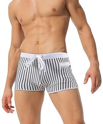 Mens Floral Print Beach Trousers Plaid Trunks Bling Swim Trunks