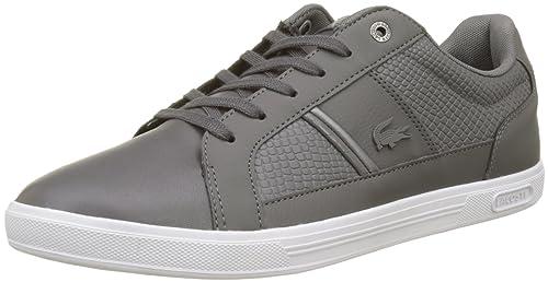 Lacoste Europa Lcr3, Zapatillas para Hombre, Blanco (Black/Black), 40 EU