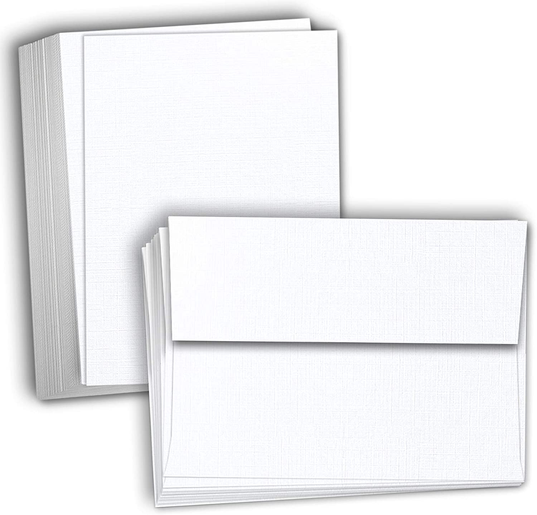 10 x DL Cream Card Blanks With White Envelopes