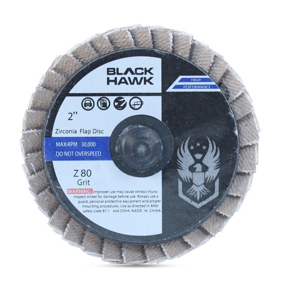 10 Pack - 2'' Mini Flap Discs Quick Change Zirconia Grinding & Sanding Wheels (80 Grit)