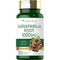 Sarsaparilla Root Capsules 1000mg | 120 Count | Non-GMO, Gluten Free Supplement | by Carlyle