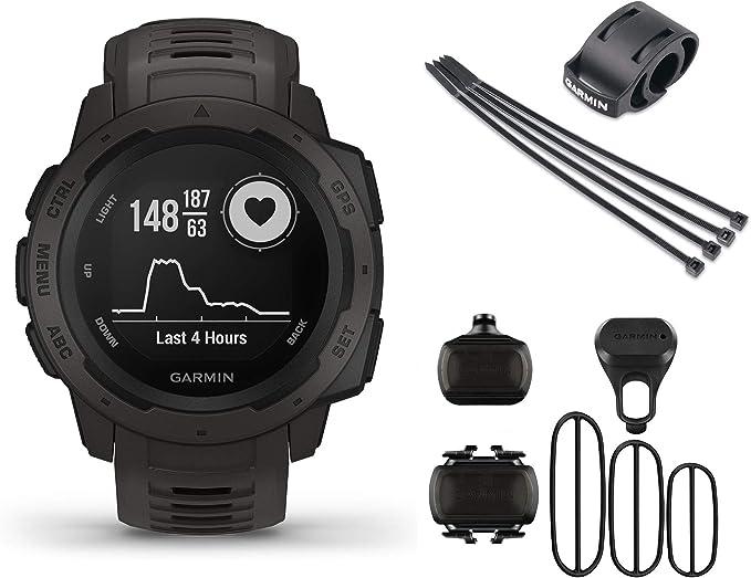 Garmin Instinct Bike Bundle - Reloj de pulsera para bicicleta con ...