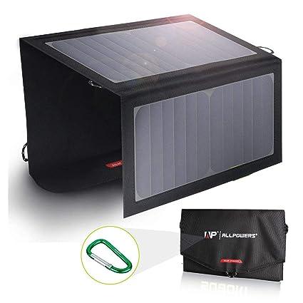Amazon.com: Buydaly Cargador Solar 10 W Panel Solar 5 V Dual ...