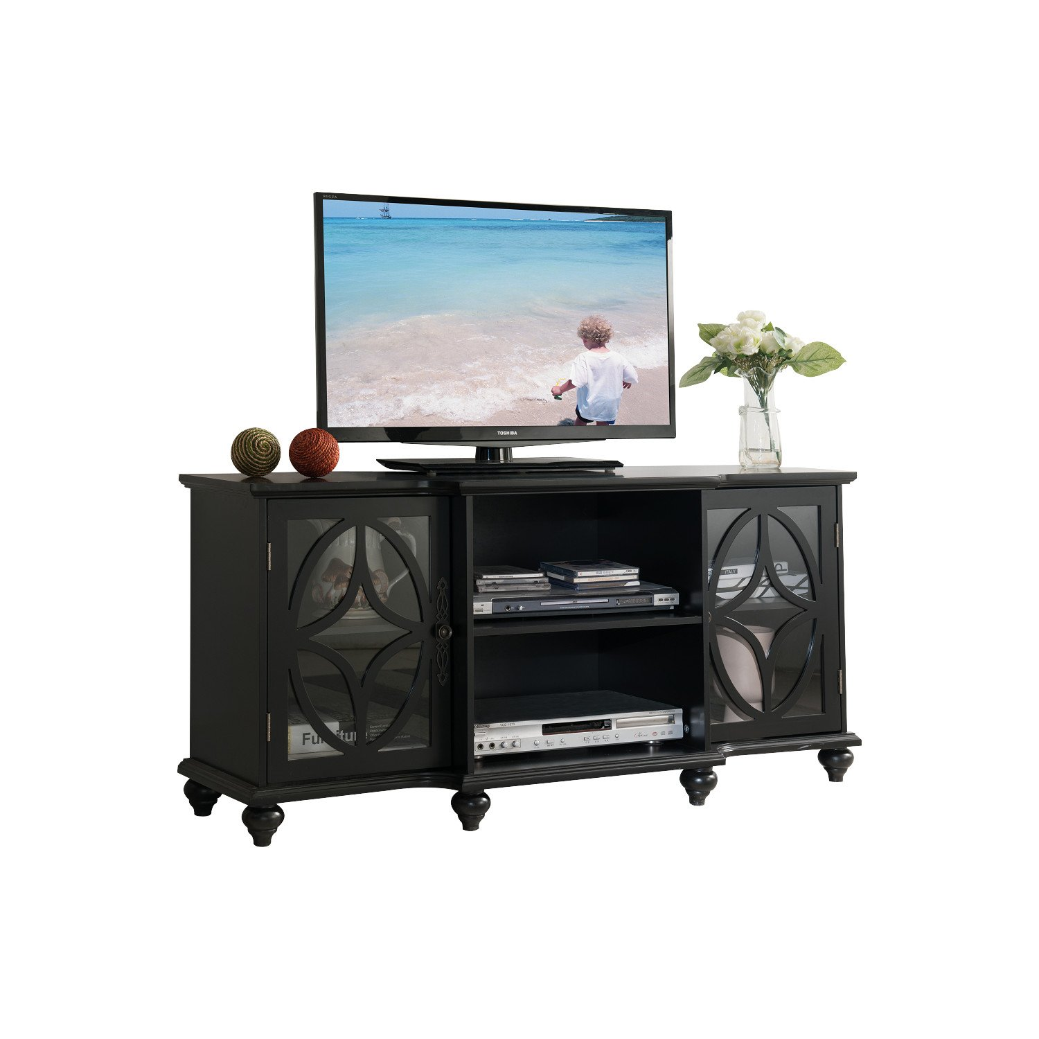 Amazon Kings Brand Furniture TV Stand Entertainment Center