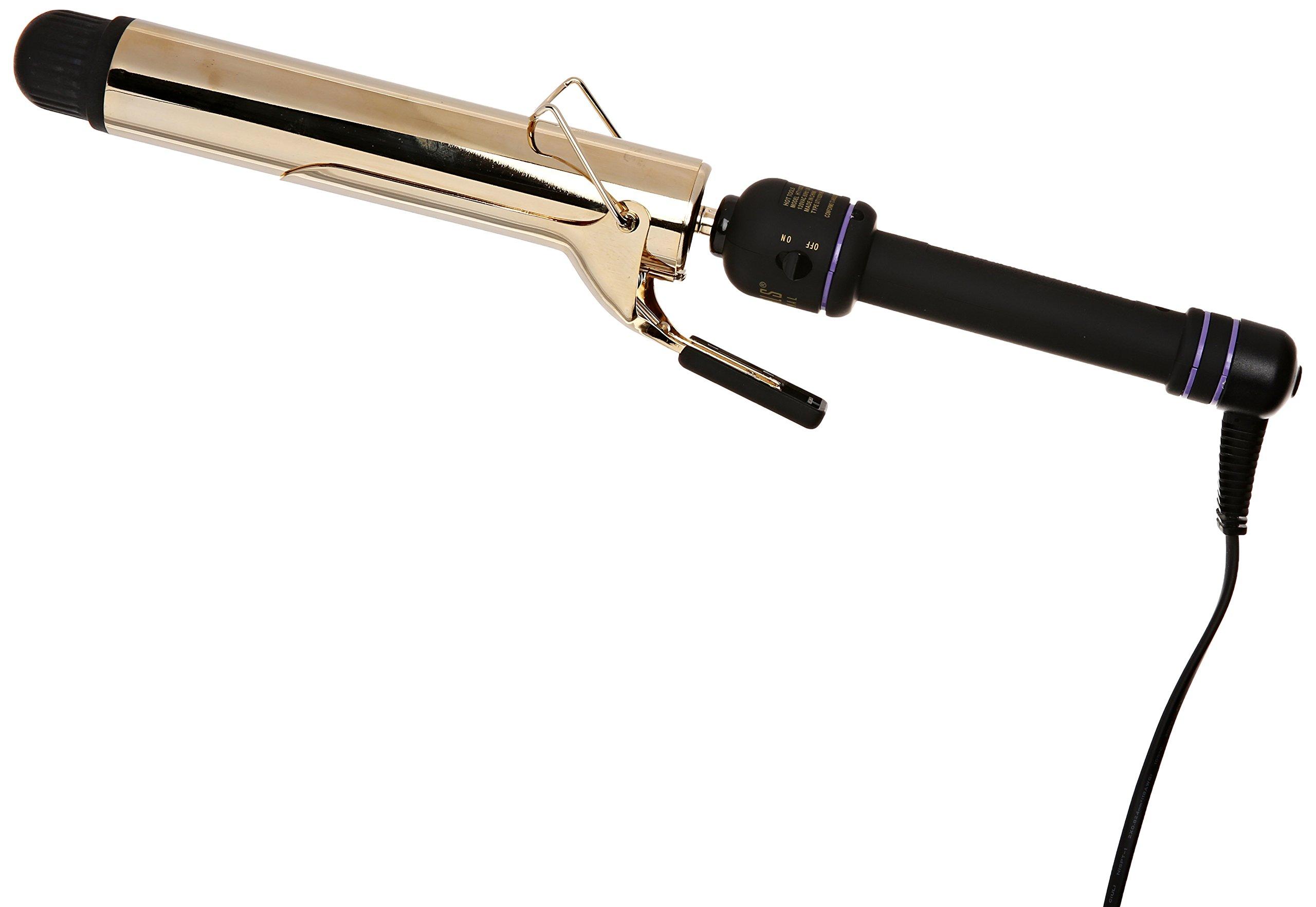 Hot Tools Salon Curling Iron XL Barrel 24k Gold -HT1102XL, 1-1/2 Inch