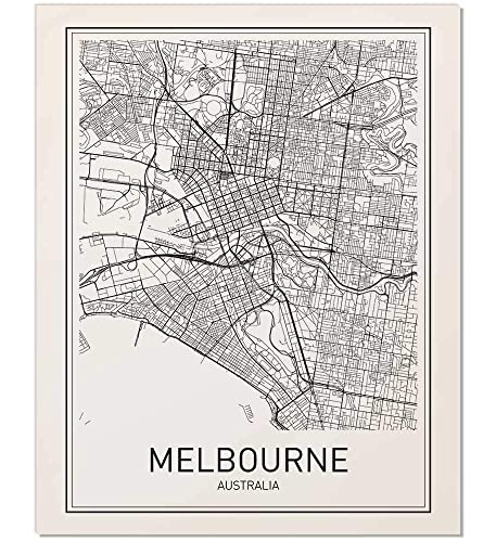 Australia Melbourne Map.Amazon Com Melbourne Poster Melbourne Map Map Of Melbourne