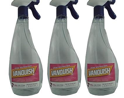 Vanquish – 3 x 500 ml no peligrosos alfombra, colchón y bebé orina olor eliminador