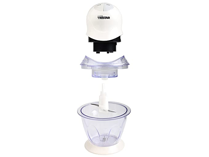 200 W Blanco Acero Inoxidable y pl/ástico Tristar BL-4009 Picadora 0.6 litros