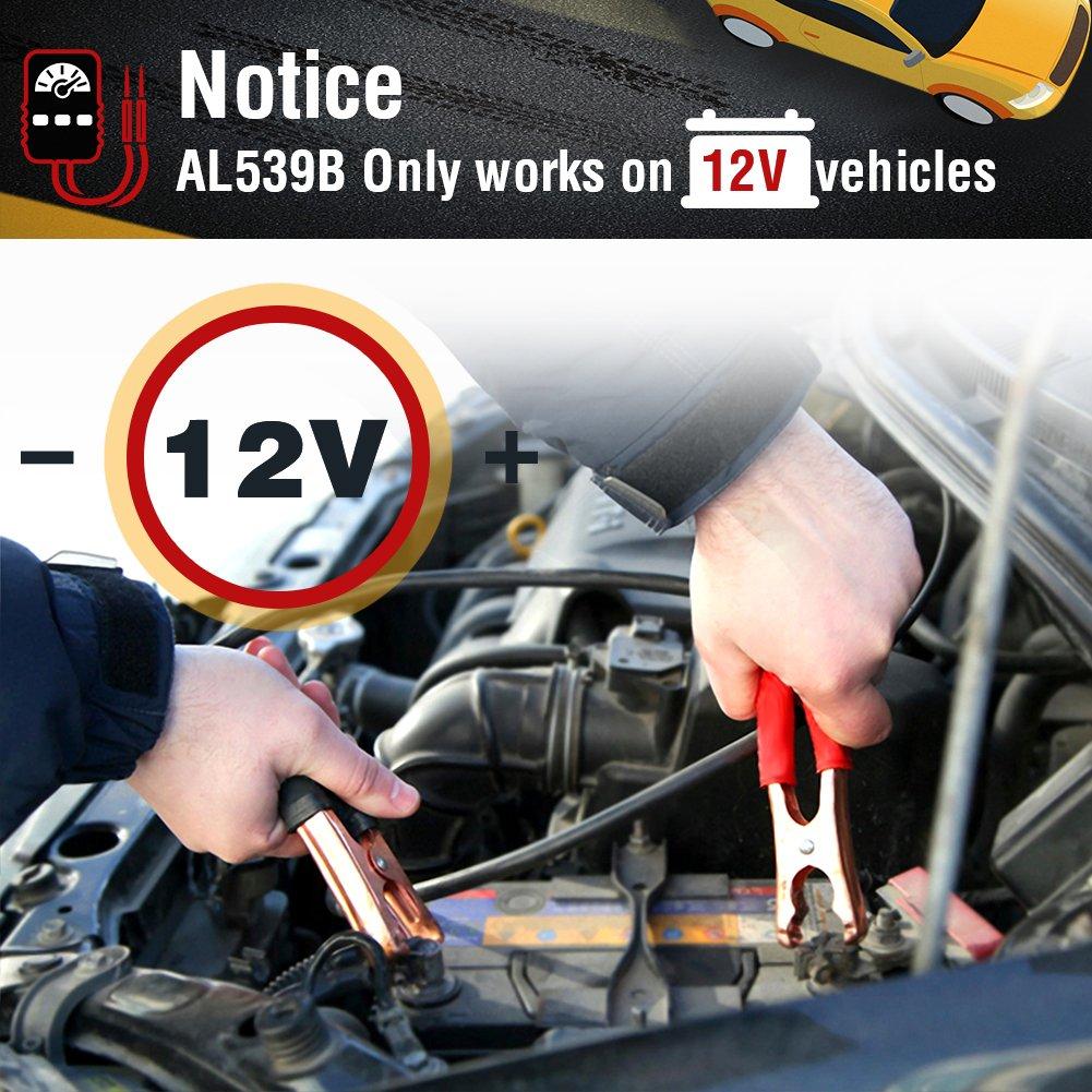 Autel Autolink AL539B Herramienta de Diagnóstico OBDII Lectura y Borrado de Códigos de Error Circuito, Carga, Arranque 12V (Al539 + Test de Batería), ...