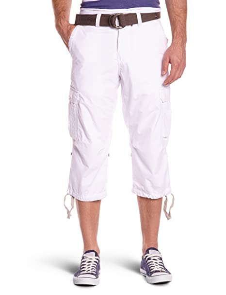 Cargous50 - Pantalones para hombre, color blanco, talla 31 Schott NYC