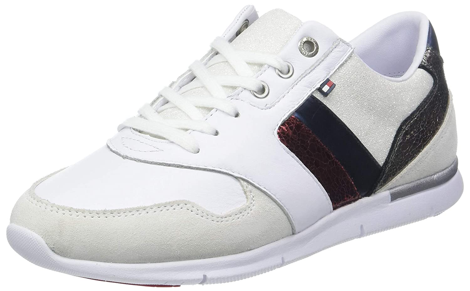 Tommy Hilfiger Leather Light Sneaker, Zapatillas para Mujer